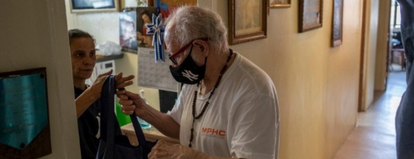Manuel Rosario, 85, was a volunteer at a New York City food bank for two decades.